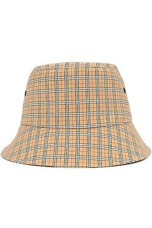 Burberry Micro Check Bucket Hat in Archive