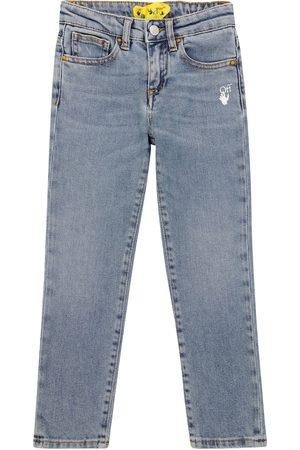OFF-WHITE Girls Slim - Diagonal slim-fit jeans