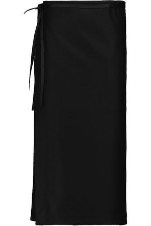 Jil Sander Women Midi Skirts - Belted wool midi skirt