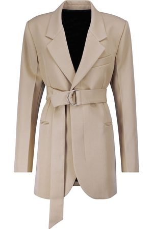 Ami Long wool gabardine blazer