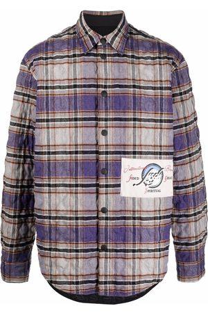 Msgm Quilted plaid shirt-jacket