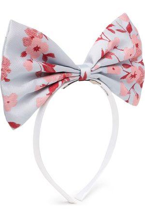 HUCKLEBONES LONDON Floral-print bow hairband