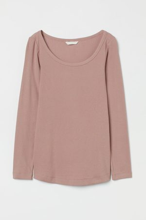 H&M MAMA Long-sleeved cotton top