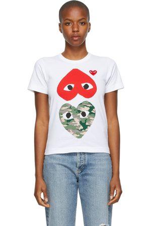 Comme des Garçons Camo Upside Down Heart T-Shirt