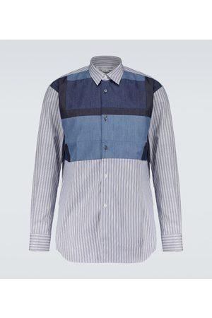 Comme des Garçons Long-sleeved cotton patchwork shirt