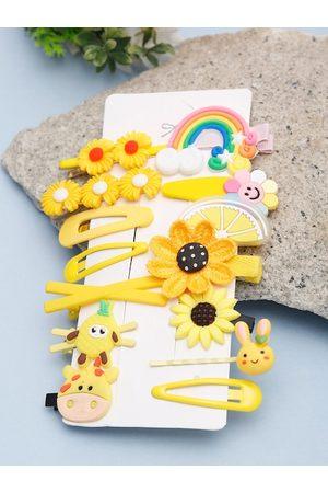 YouBella Women Yellow Set of 14 Hair Accessory Set