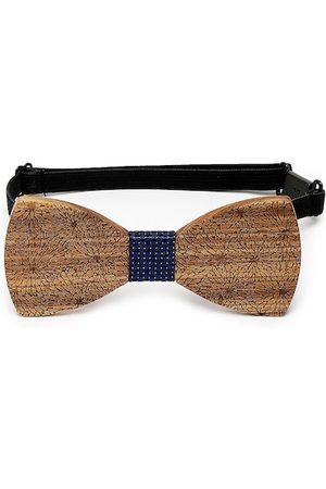 Alvaro Castagnino Men Brown Printed Wooden Bow Tie