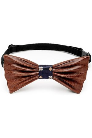 Alvaro Castagnino Men Brown Printed Bow Tie