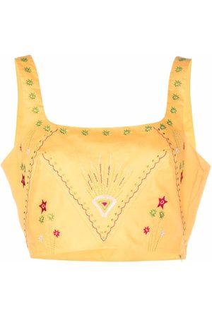 Le sirenuse Women Vests - Patterned cropped vest