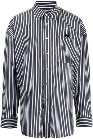 ZZERO BY SONGZIO Men Casual - Striped oversized Panther shirt
