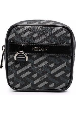 VERSACE Greca logo-print zip-up wallet