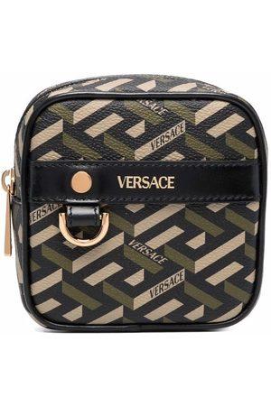 VERSACE Wallets - Greca logo-print coin purse