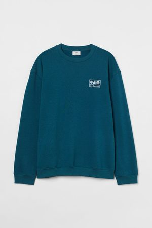 H&M Relaxed Fit Sweatshirt - Turquoise