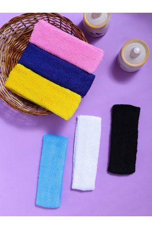 Yellow Chimes Jewellery Sets - Unisex Yellow & Pink Set of 6 Hairband