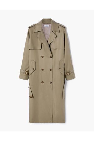 A LINE Women Trench Coats - Olive-Bege Belted Trench Coat