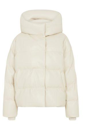 Jakke Patricia Vegan Leather Puffer Jacket - Cream