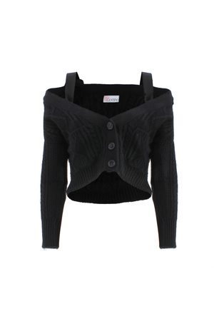 RED Valentino CROPPED-LENGHT CARDIGAN