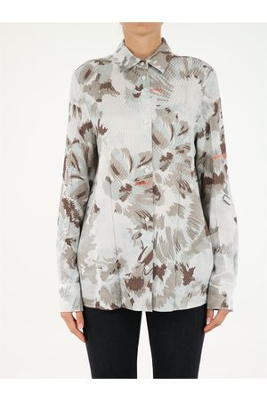 OFF-WHITE Women Long Sleeve - Shirt with floral pattern