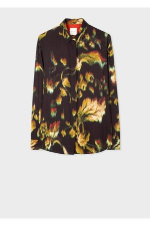 Paul Smith Women Long Sleeve - Brushed Floral Shirt 8, Colour: