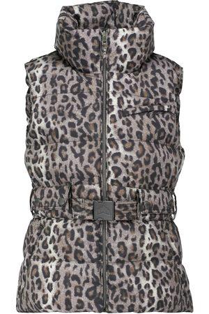 JET SET Leopard-print belted ski vest