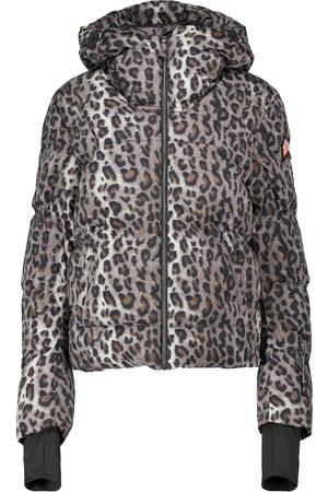 JET SET Julia leopard-print ski jacket