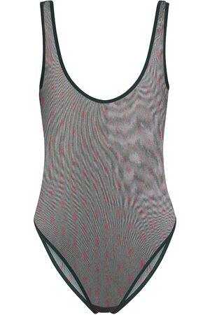 Saint Laurent Women Socks - Logo mesh bodysuit