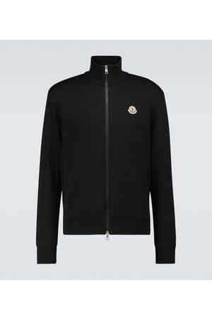 Moncler Men Sweatshirts - Zipped cotton sweatshirt