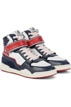 Isabel Marant Bresse leather high-top sneakers