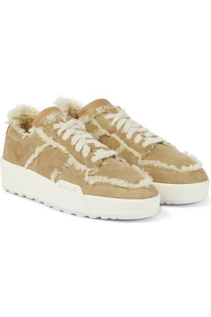 Moncler Promyx III shearling-trimmed sneakers