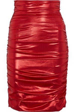 Dolce & Gabbana High-rise foil-effect miniskirt