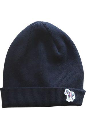 Paul Smith Men Beanies - PS Paul Smith Zebra Logo Ribbed Lambswool Beanie Hat