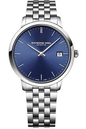 Raymond Weil Men Bracelets - Toccata Round Navy Stainless Steel Bracelet Watch