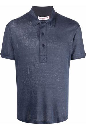 Orlebar Brown Short-sleeved linen polo shirt