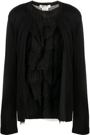 Comme des Garçons Long-sleeved ruffled wool cardigan