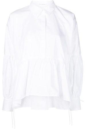 Cecilie Bahnsen Andrea cotton peplum hem shirt