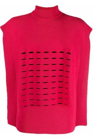 A BETTER MISTAKE Swat cut-out fine knit vest