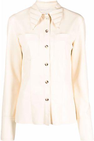 Nanushka Cuban-collar long-sleeve shirt