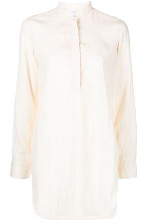 Deveaux Women Long Sleeve - Collarless long-sleeved shirt