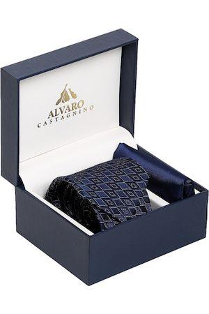Alvaro Castagnino Men Blue Microfiber Accessory Gift Set