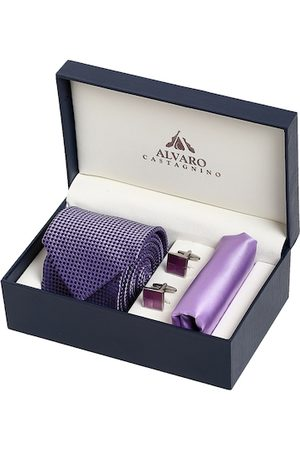Alvaro Castagnino Men Purple & Gold-Toned Accessory Gift Set