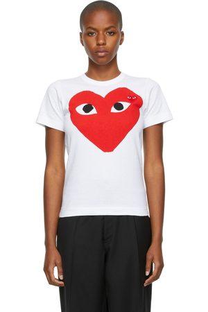 Comme des Garçons Women Short Sleeve - Large Double Heart T-Shirt