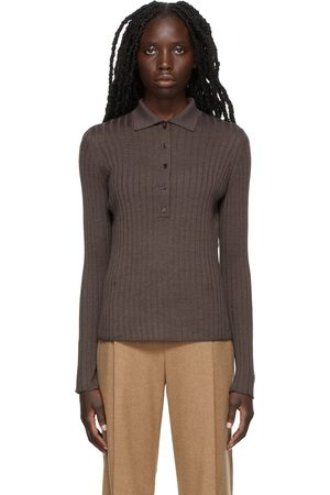 Vince Rib Knit Buttoned Polo