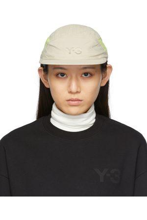 Y-3 Women Caps - Beige & Yellow Nylon Running Cap