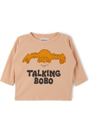 Bobo Choses Baby Pink 'Talking Bobo' Long Sleeve T-Shirt