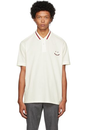 Paul Smith Men Polo Shirts - Off- & Red Happy Polo