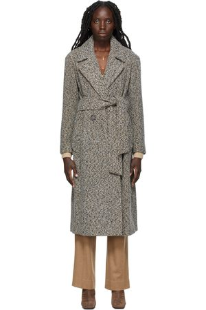 Vince Women Trench Coats - Double Breasted Pebbled Trench Coat