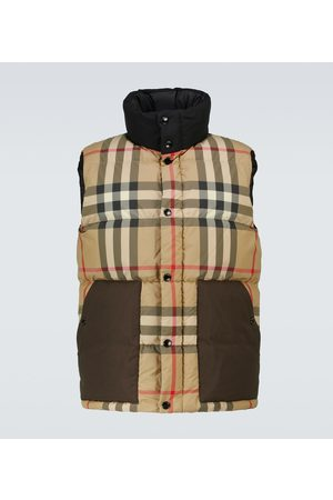 Burberry Kenwick checked down vest