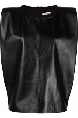 The Mannei Sleeveless leather vest