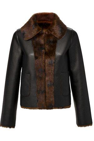 Marei Women Leather Jackets - Rose Reversible Faux Fur & Faux Leather Jacket