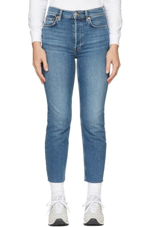 RE/DONE Women Jeans - 70's Stove Pipe Denim Jeans
